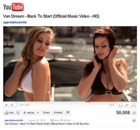 Van Dresen - Back To Start music video just achieved 50.000 views on YouTube!