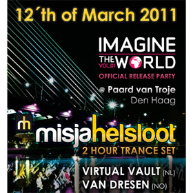 Playing at the official release party of Imagine The World, Vol 01 - in NL!